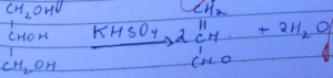 Chemical Equation of Acrolein Test